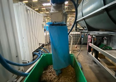 Collection of dry organic solids for biogas feedstock