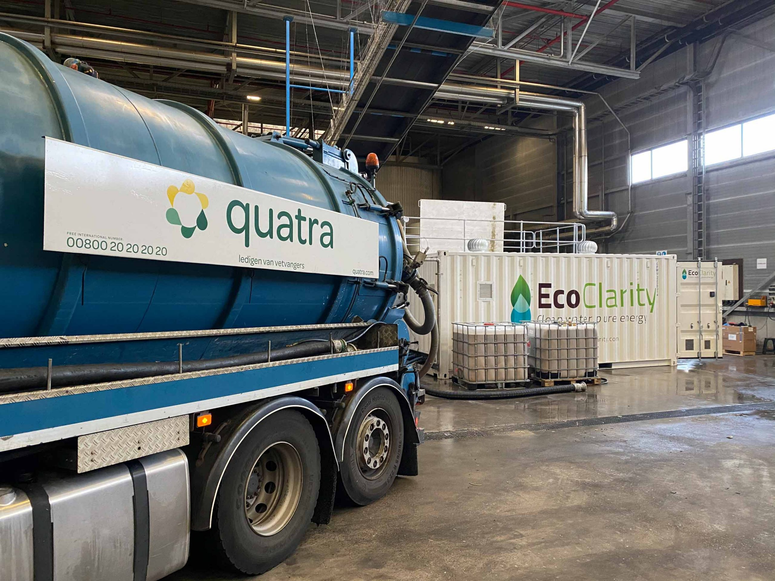 Quick and easy offload of grease trap waste into the consolidation hub